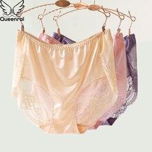 Queenral Briefs Women Sexy Lace Underwear Transparent Panties Women Cotton Seamless Panties