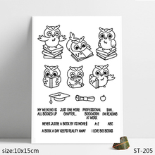 ZhuoAng Love Learning Bird Owl Clear Stamps/Seals For DIY Scrapbooking/Card Making/Album Decorative Silicon Stamp Crafts