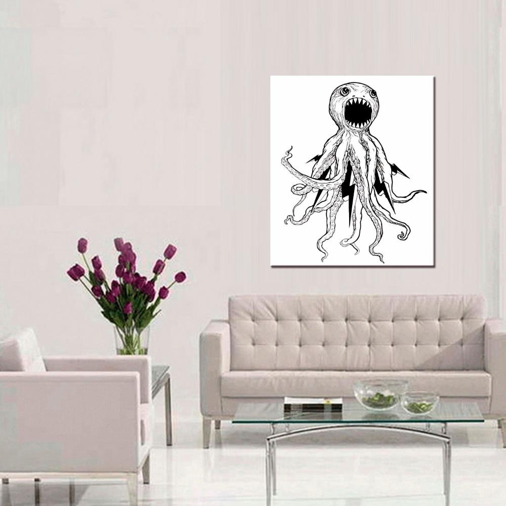Enmarcado 1 unidades imagen abstracta pulpo impresión del arte de la ...