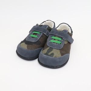 Image 2 - TipsieToes למעלה מותג עור אמיתי באיכות גבוהה תפרים ילדים ילדי נעלי יחף עבור בני 2020 אביב חדש הגעה