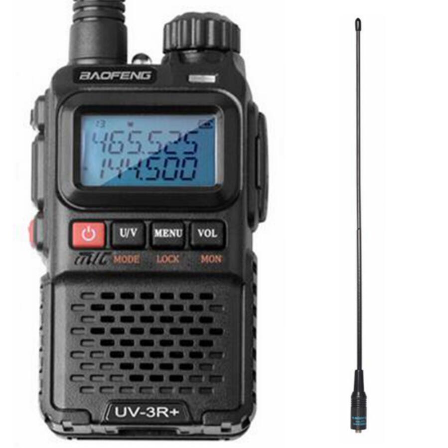 Baofeng double bande lumière et pratique talkie walkie 3R + VOX lampe de Poche portable FM Transceiver Ham Radio pour la chasse