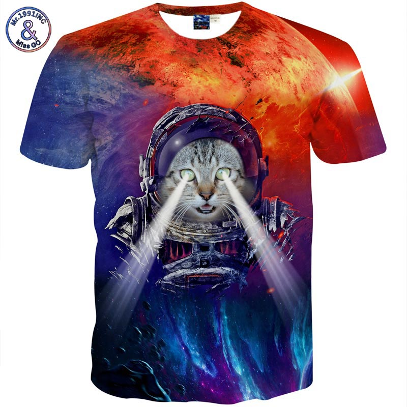 Mr.1991INC Meow Cat People T-shirt Men Short sleeve 3d t-shirt funny print Cats summer cool Tops Tees T shirt
