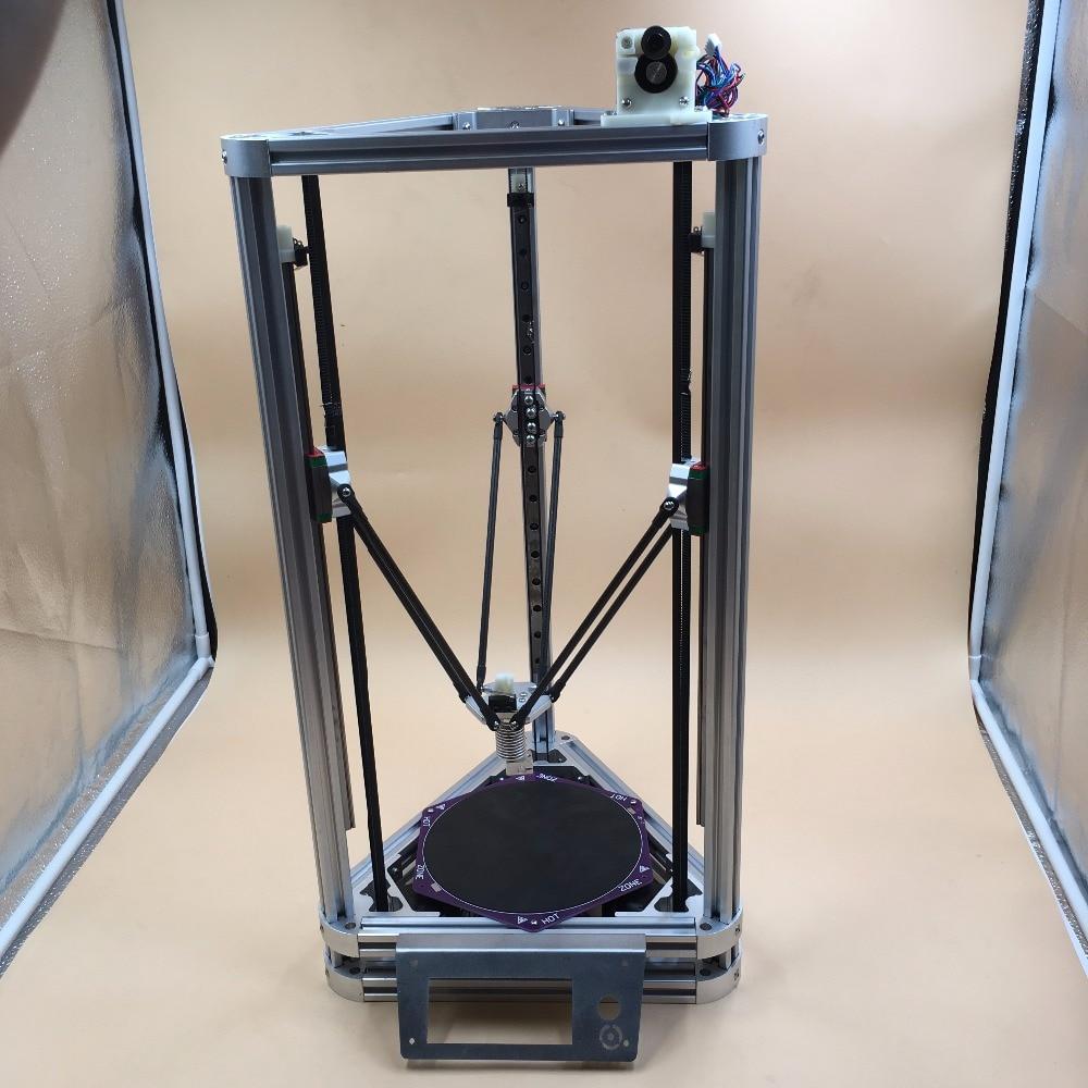 Blurolls All aluminum DIY Reprap Kossel Rostock mini 3D Printer Machanical Kit With Heated Bed,Auto Leveling d force mini3d printer kit installed high speed stability beyond kossel 800 rostock mini