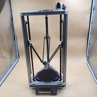 Blurolls All aluminum DIY Reprap Kossel Rostock mini 3D Printer Machanical Kit With Heated Bed,Auto Leveling