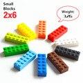 100 g/lote! 2*6 de alta clásico pequeños bloques ladrillos 12 partículas compatible con lepin construcción de ladrillos diy juguetes
