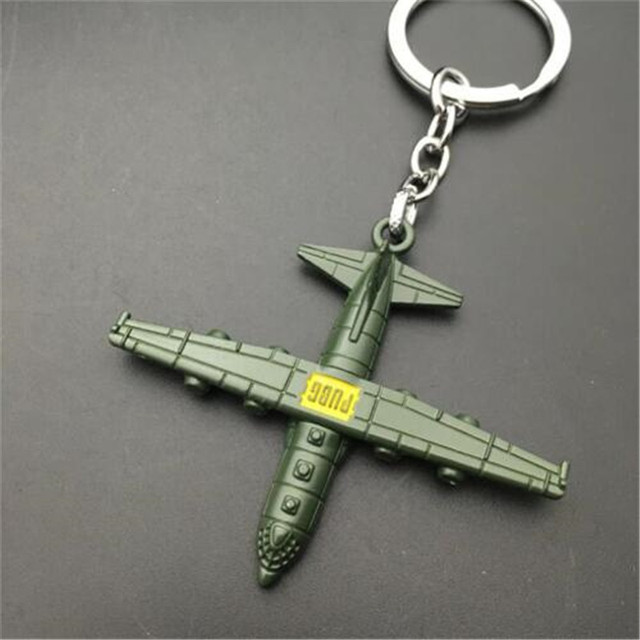 Game PUBG Plane Key Chain Playerunknown's Battlegrounds Cosplay Props Alloy Armor Model Key Chain Gift