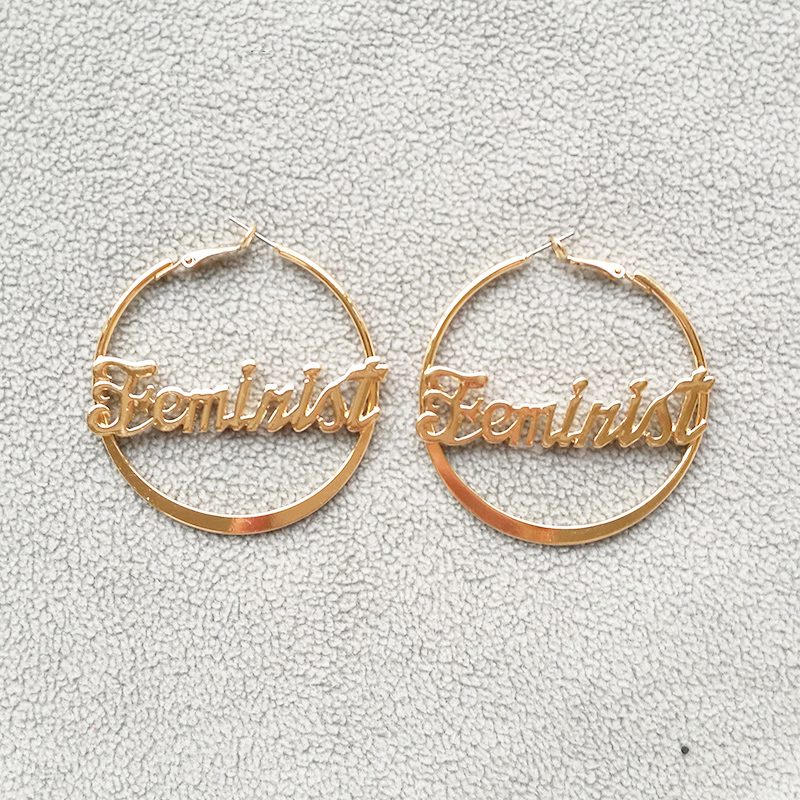 b9e04acdc8c28 Buy earrings hoop letters and get free shipping on AliExpress.com