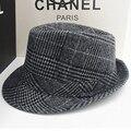 Зима шерстяного войлока Fedora для мужчин вводная часть Masculino панамах джаз шляпа бандитский Cap бесплатная доставка