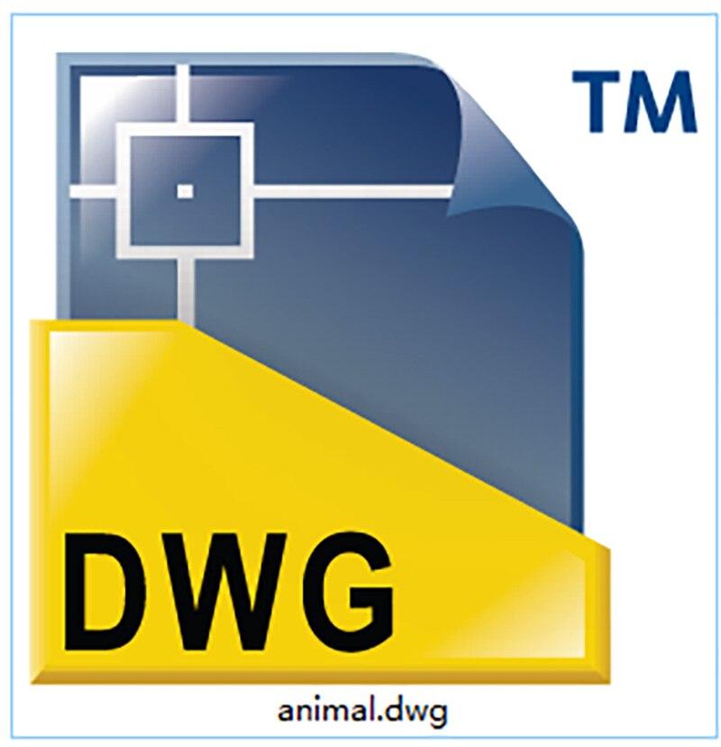 Drachen Dinosaur Tyrannosaurus Rex DWG cad-zeichnung datei für cnc laserschneiden gravur D2