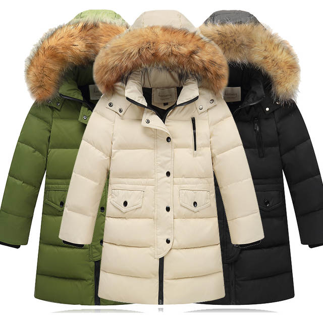 10a0ccd1851 Children Winter Jacket Made of Goose Feather Winter for Girls Boys Parka  Coat Child Duck Down Clothes Outwear Kids Down Jacket -in Down & Parkas  from Mother ...