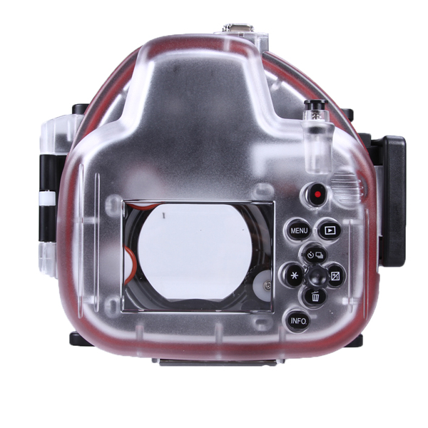 Waterproof Underwater Housing Camera Diving Case for canon EOS-M 18-55mm Lens Meikon fuselage cover lens cap set for canon eos m