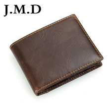J.M.D 2017 New Arrival 100% Leather Wallet Classical Brown Wallet Purse Men's Hand bag 8108