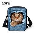 Señoras de las mujeres messenger bag bolsos de moda, pequeño animal cat dog impreso de las niñas pequeñas bolsas crossbody bolsa para niños bolsa de hombro bolsa