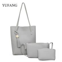 YUFANG Brand Women Messenger Bags Fashion PU Leather Composite Bag Shoulder Tote Change Wallet Zipper Purse Crossbody Bag Female