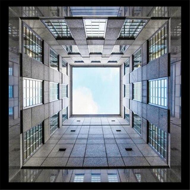 Beibehang panneau 3d papier peint b timent ciel plafond for Fond plafond moderne