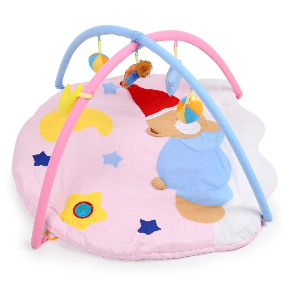 Здесь можно купить  Baby Play Mat Soft Cute Sleeping Bear Gym Blanket With Frame High Quality 0-12 Months Baby Boys Girls Crawling Mat Playing Mat  Детские товары