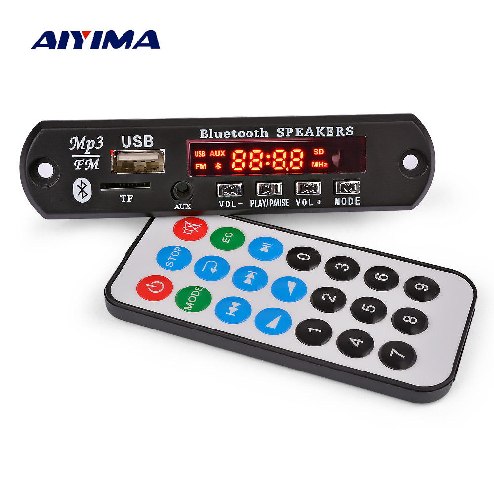 AIYIMA Bluetooth Amplifier Board 15Wx2 MP3 Decoder Board Bluetooth 5.0 Receiver WAV APE FLAC Audio Decoding USB TF FM AUX