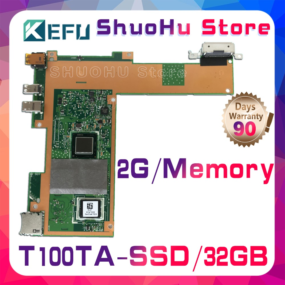 SHELI T100T For ASUS T100TA T100TAM 32GB SSD laptop motherboard tested 100% work original mainboard send board t100ta motherboard 64gb for asus t100ta t100taf t100t laptop motherboard t100ta mainboard t100ta motherboard test ok