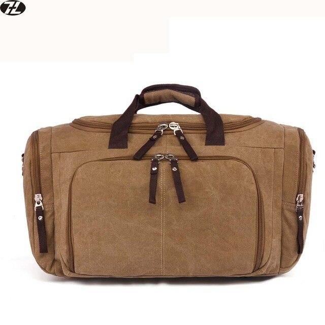 Высокое качество холст мужчины путешествовать багажные сумки большой емкости мужская crossbody сумка vintage плечо вещевой мешок для мужчин бесплатная доставка