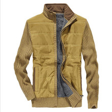 winter cashmere inner cotton sweater men 2018,patchwork cardigan knitted out coat keep warmly,motorcycle man deportes sweater