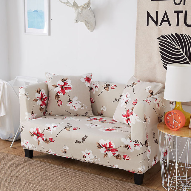 1pcs Flower Leaf Flamingo Soft Stretch Sofa Cover Home Decor Spandex Furniture Covers Decoration Covering Hotel
