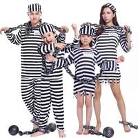 Halloween Costume Bloody Prisoner Clothes Adult Male Prison Uniform Violence Female Child Prisoners Serving Prison Uniform