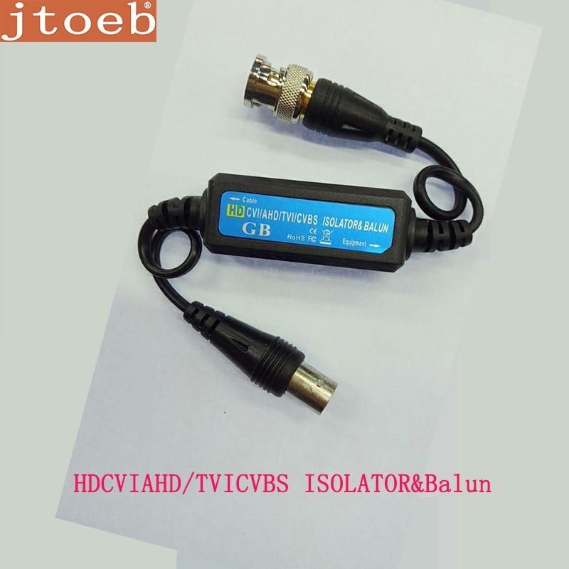 BNC Coaxial Câble vidéo Balun adaptateur Connecteurs HD AHD CVI TVI Boucle Au Sol Isolateur protection contre les surtensions Wave filter Design