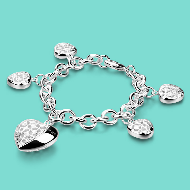 Bracelet en argent avec pendentif en for ...