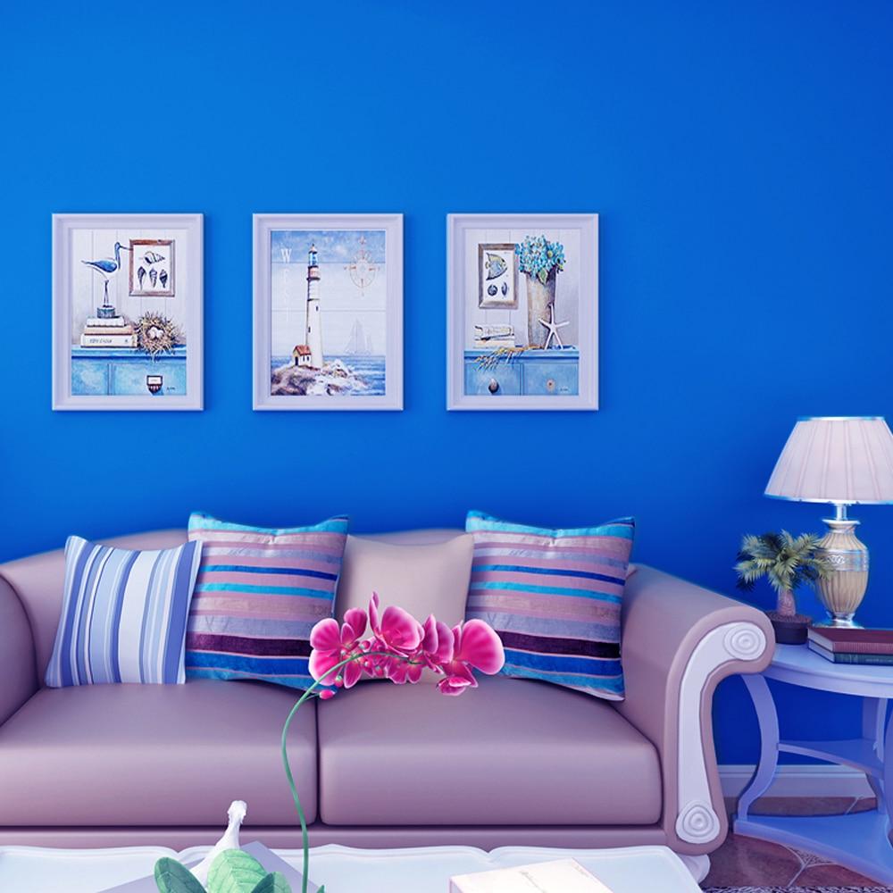 Yazi 45cmx10m blue self adhesive wallpaper refurbished - Bande adhesive murale ...
