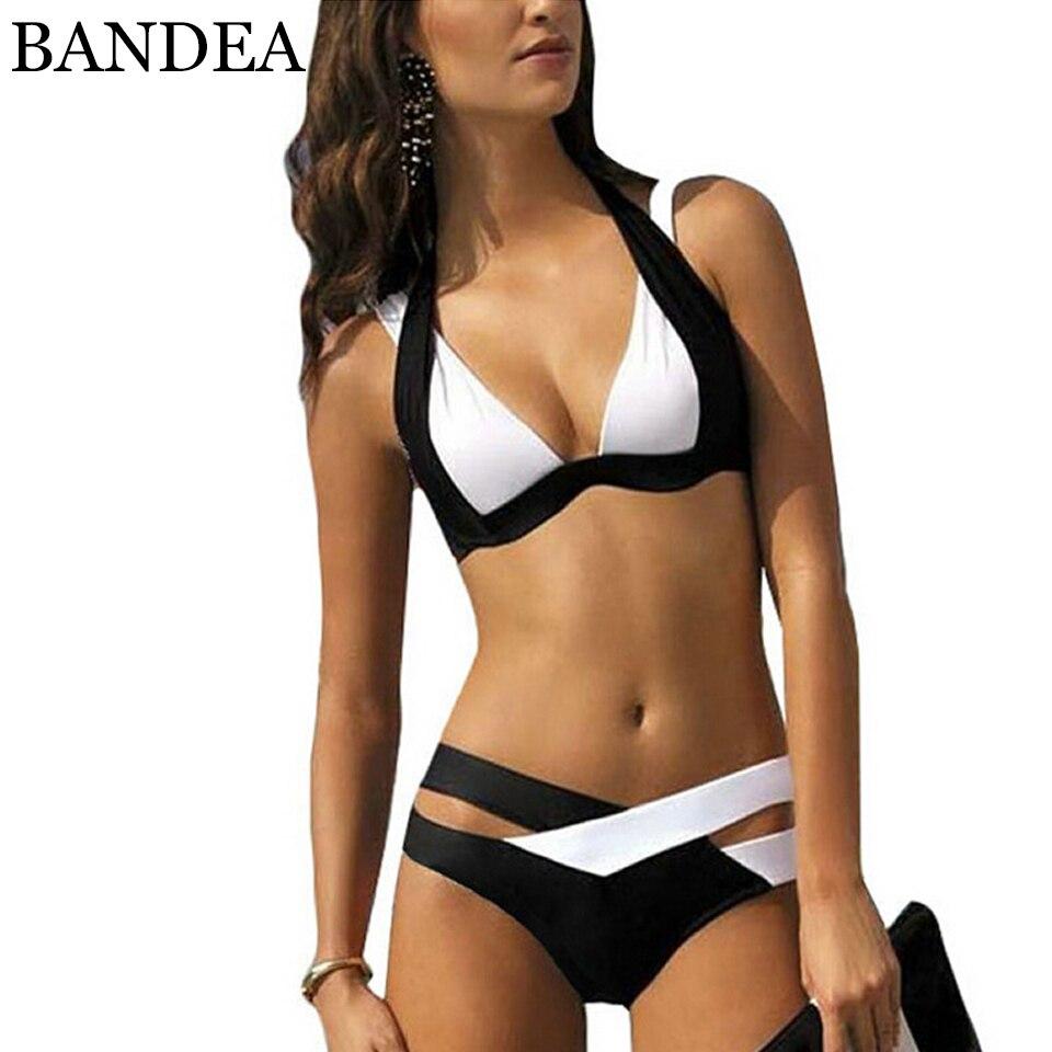 Stripsky Summer Style 2016 New Women Sexy Bikini Set Push Up Swimsuits Padding Swimwear Cross Bandage