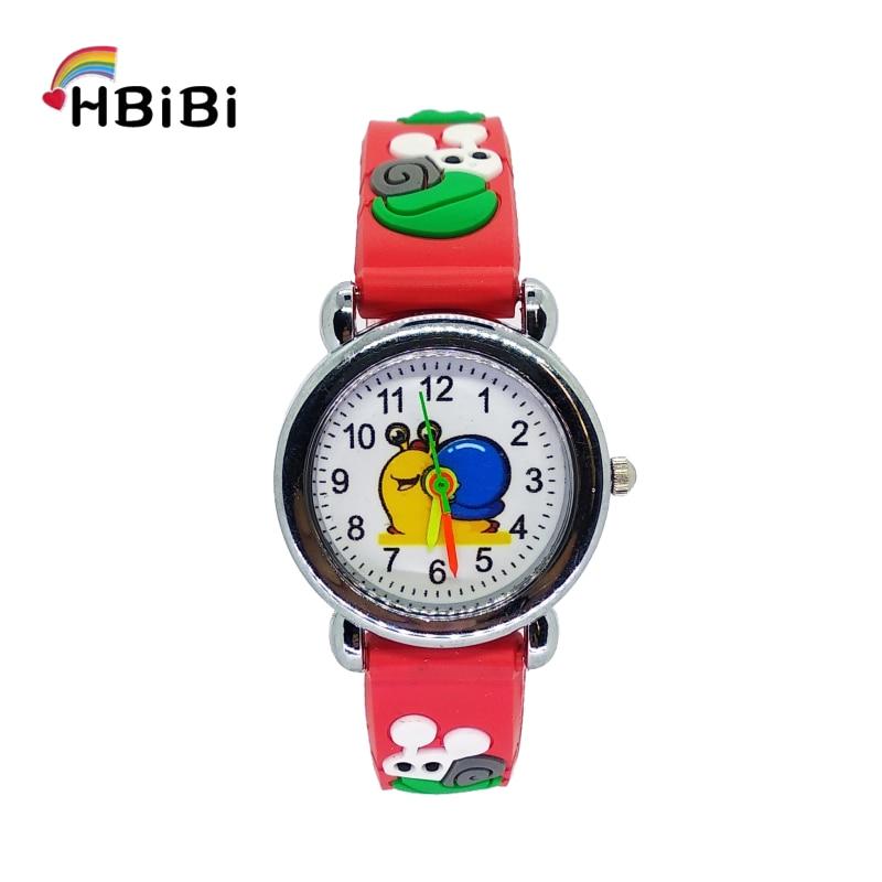3D Cartoon Snail Children Quartz Analog Watches Kids Boys Girls Flower Clock Casual Fashion Child Bracelet Watch Christmas Gift