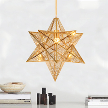 star pendant lamp simple all copper bedroom lamp bar entrance originality decorative lighing pendant light lamps za8246