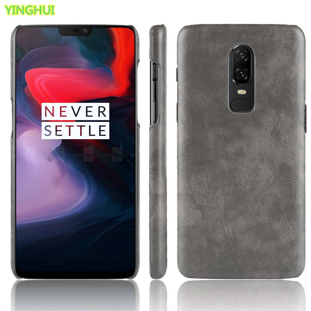 For <font><b>OnePlus</b></font> 6 Case <font><b>OnePlus</b></font> <font><b>A6000</b></font> Case Hard PC Leather Hard Plastic Phone Case For <font><b>Oneplus</b></font> 6 1+6 2018 Six Case Back Cover image