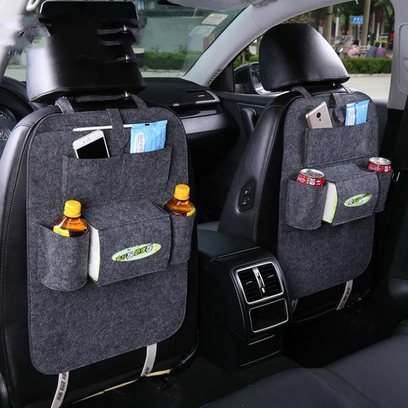 Baby Car Seat Back Seat Storage Bags Baby Car Dolly Shopping Cart Covers Children Kids Bag for Storing Multi-pocket Bag