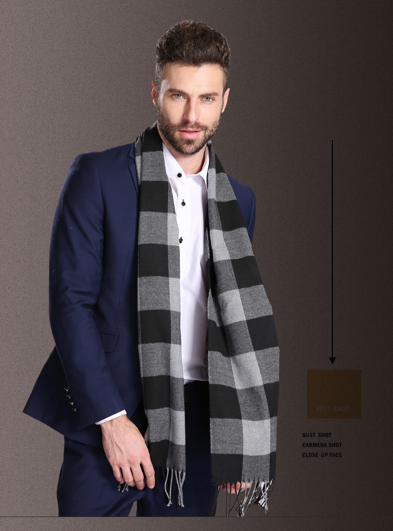 6449b9dafc684 🛒[ex2n1] New Europe Fashion Shawl Scarves Men Winter Warm Tartan ...