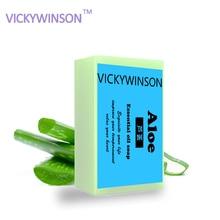 VICKYWINSON  Aloe Vera Handmade Soap Skin Whitening Soap Blackhead Remover Acne Treatment Face Wash Hair Care Bath Skin Care XZ4 недорго, оригинальная цена
