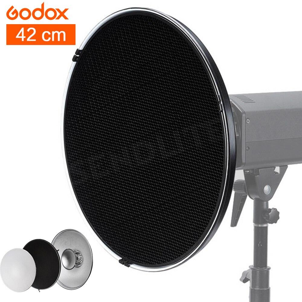 Godox 42 см блюдо Studio Вспышки и аксессуары профессиональной студии светильники для фото вспышки света