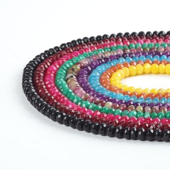 a99f6ad57654 De piedra colorida 5x8 x mm Abacus cuentas de cristal facetado cuentas  sueltas para la oración musulmana Fabricación de pulsera de la joyería del  grano ...