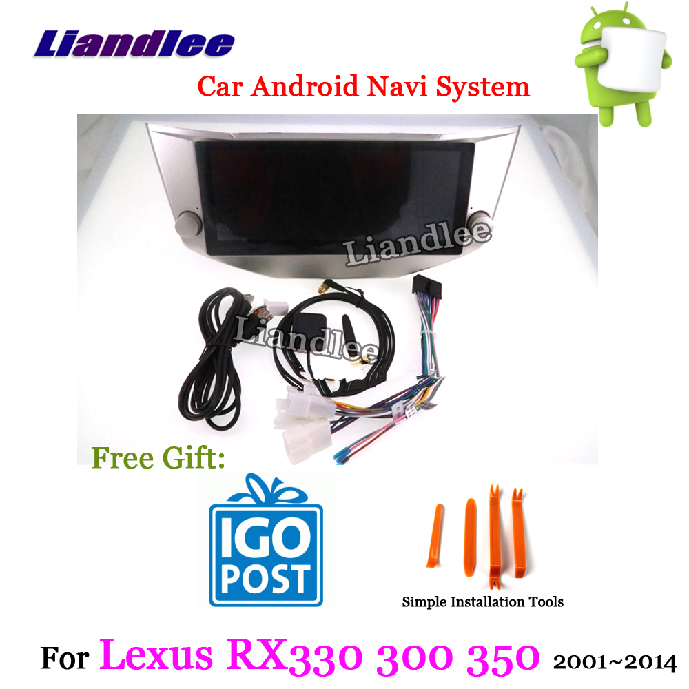 hight resolution of liandlee car android system for lexus rx rx200 rx330 rx300 rx350 400h 2001 2014 radio