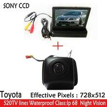 HD Видео 4.3 дюймов Автомобиль Зеркало Монитор + Ночного Видения CCD Автомобиля парковка Камера Заднего Вида для Toyota Prius 06-10/Camry 09 10/Aurion