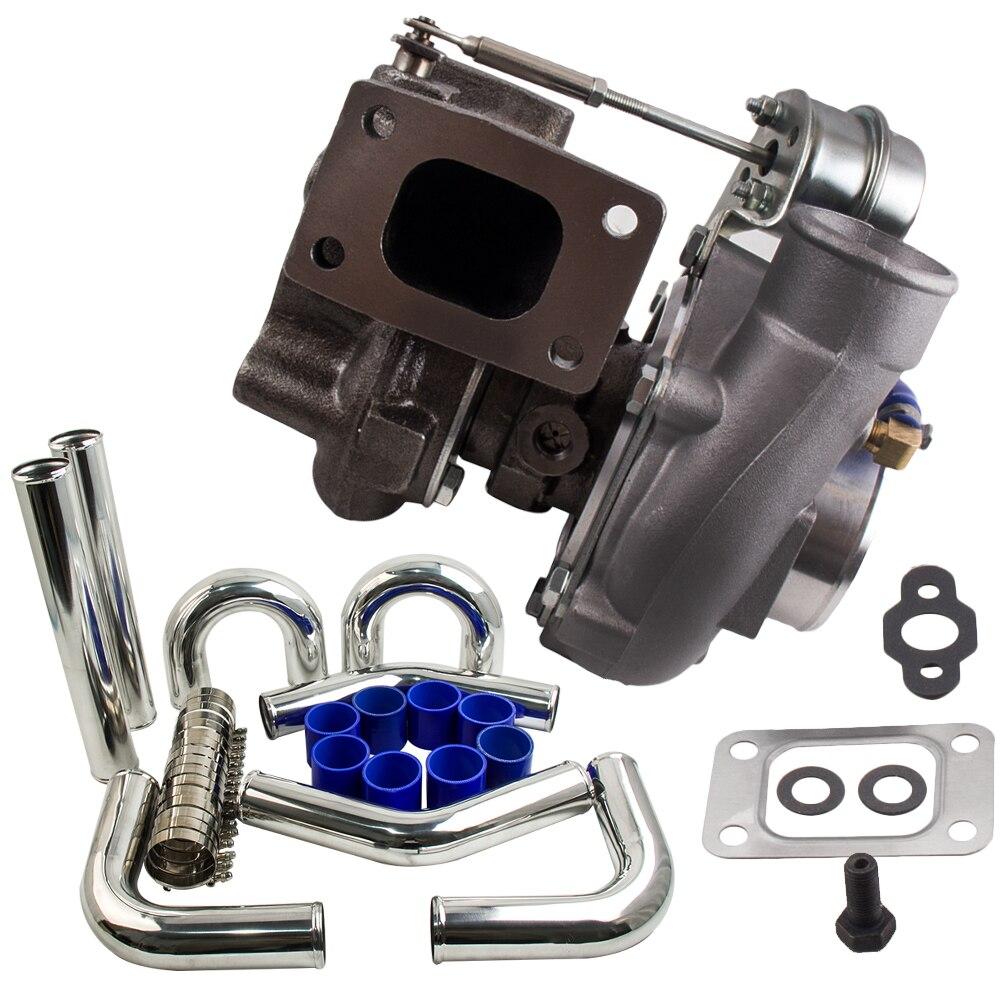 T2 T25 T28 Turbo pour Nissan 200SX 180SX S13 S14 SR20 CA18DET turbocompresseur eau froide + 3 pouces Intercooler tuyauterie colliers de serrage