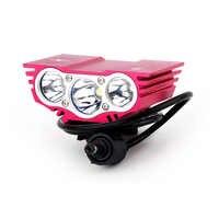 6000 Lumen 3 x XM-L U2 T6 LED vélo lumière avant vélo lumière LED phare phare étanche en alliage d'aluminium