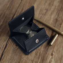 LANSPACE leather coin purse men's leather wallet mini purse unisex coin purses holders