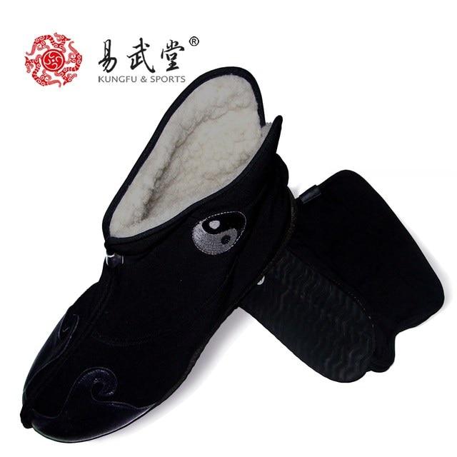 YWT54 Practise tai chi shoes winter Wushu shoes female male wushu shoes warm martial arts shoes free shipping