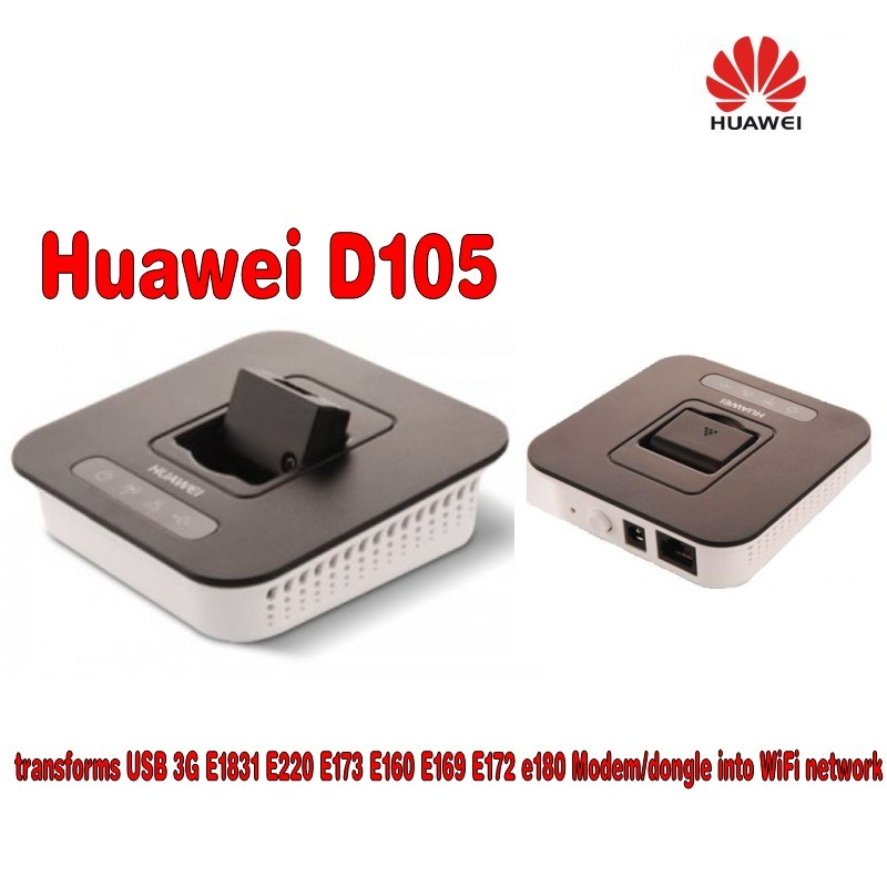 Huawei D105 3g Wireless Router transforms USB 3G E1831 E220 E170 E160 E169 E172 Modem/dongle into WiFi network