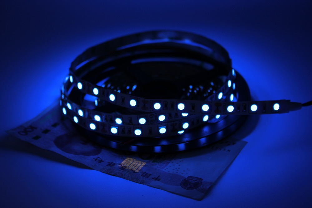 Super Bright 5M <font><b>UV</b></font> Ultraviolet <font><b>Led</b></font> Strip Light DC12V 5050 300Leds Purple IP20 <font><b>LED</b></font> Tap Ribbon String Light Better Than 3528 image