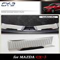 De alta Qualidade Em Aço Inoxidável embutido CX-3 choques traseiro pé placa fit para MAZDA 2015-2016 Auto de volta tampa do peitoril