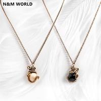 Fashion Vintage Necklace Gift Animal Lion Head Pendant Necklace Jewelry For Women Grils Gift Wholesale 2 color