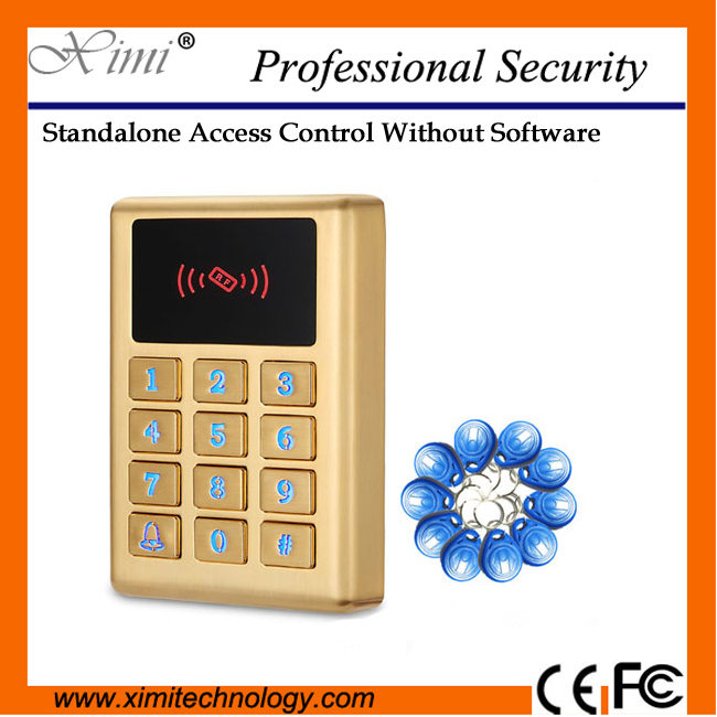 High quality M11 metal waterproof without software standalone with keyboard proximity rfid card access control system metal rfid em card reader ip68 waterproof metal standalone door lock access control system with keypad 2000 card users capacity