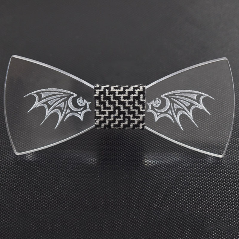 Mantieqingway Novelty Acrylic Bow Ties for Men Wedding Party Bow Tie Formal Wear Business Suit Skinny Cravat Men Christmas Gift